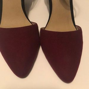 a.n.a Shoes - Sexy A.N.A. Black & Maroon Pointed Toe Wedges
